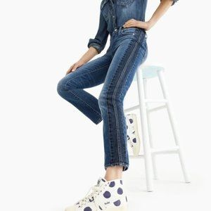 J. Crew Vintage Straight Jeans in Two-Tone 28